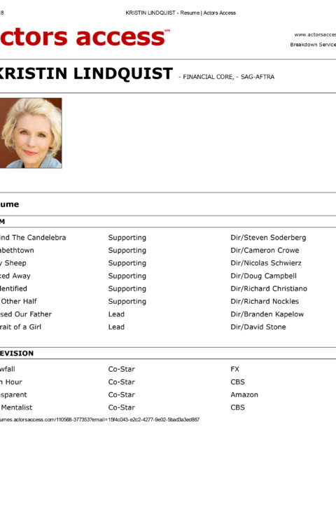 KRISTIN LINDQUIST – Resume _ Actors Access-1