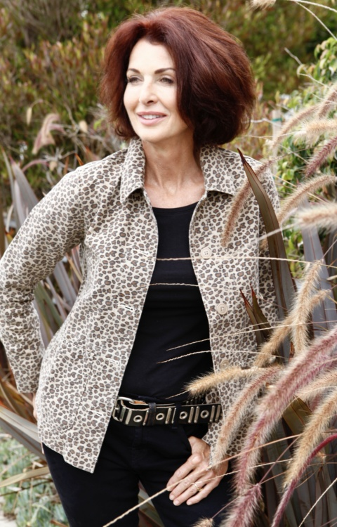 Lorelei Leopard jacket Outdoors Environmental with Nature