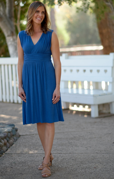 Kari Cook blue dress